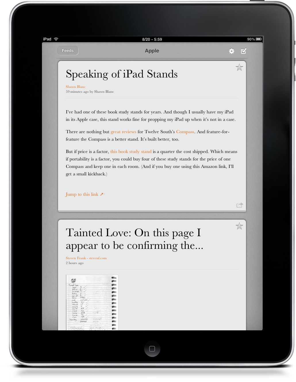 River of News: First Real Alternative to Reeder for iPad? – MacStories