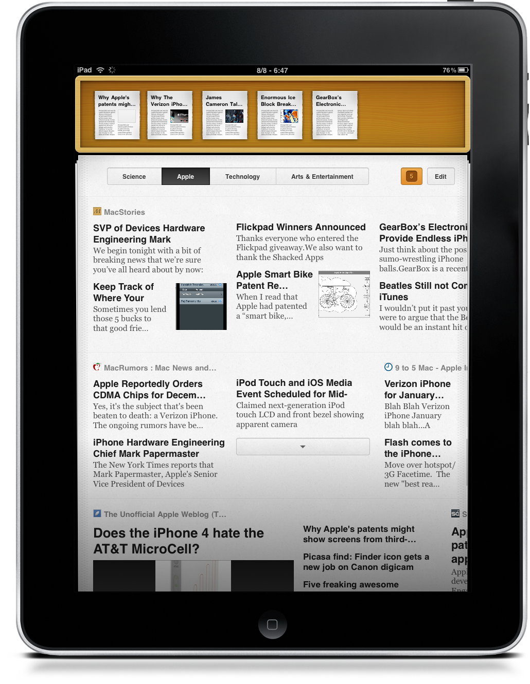 Times for iPad: Beautiful Visual Newsreader  Review and